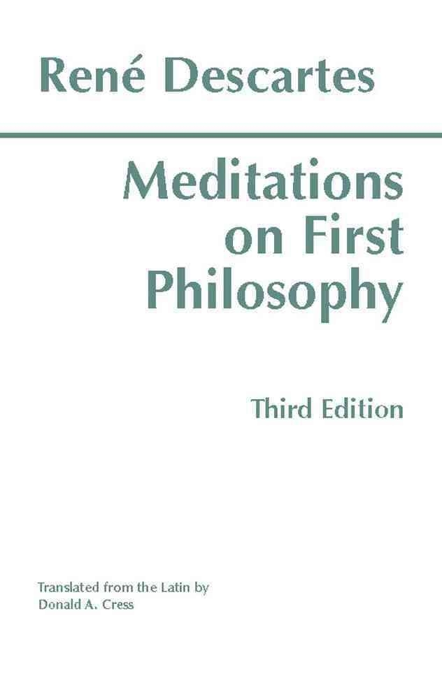 a presentation of descartes meditation on first philosophy Start studying meditations on first philosophy- descartes learn vocabulary, terms, and more with flashcards, games, and other study tools.