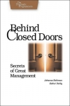 Johanna Rothman, Esther Derby. Behind Closed Doors: Secrets of Great Management (Pragmatic Programmers)